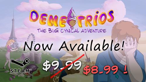 Demetrios is released on Steam