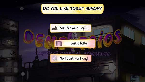 Demetrios toilet humor option